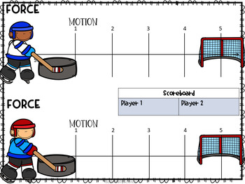 Force and Motion Hockey Puck Game