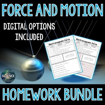 Force and Motion Homework