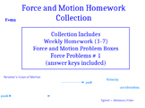 Force and Motion Homework Collection