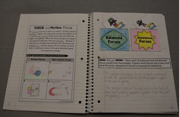 Force and Motion: Interactive Notebook