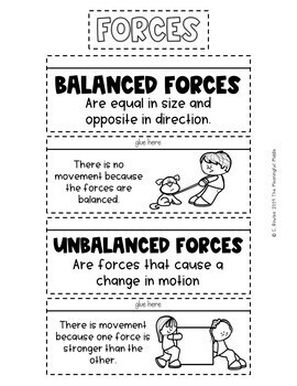 Force and Motion Interactive Notebook Activities