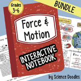 Doodle Notes - Force and Motion Interactive Notebook BUNDL