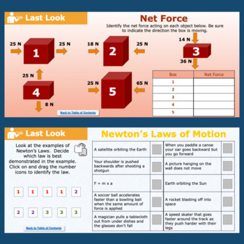 Force and Motion Interactive Notebook Pages