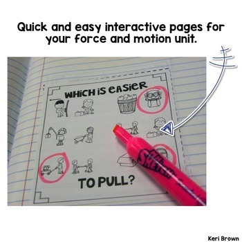 Force and Motion Activities Unit: Interactive Science Notebook