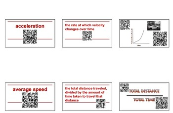 Force and Motion Interactive Vocabulary Flashcards QR