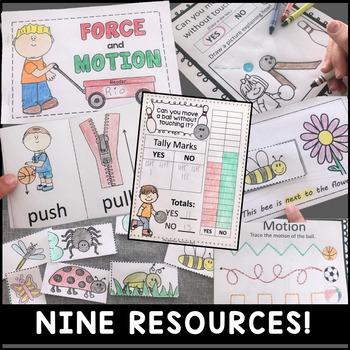 Force and Motion Kindergarten Bundle of Activities (9 Activities Total)