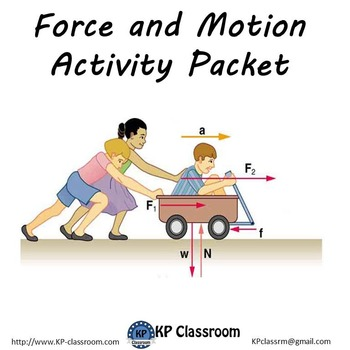 Force and Motion Activity Packet Printable Worksheets