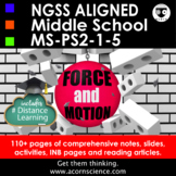 Middle School NGSS Force and Motion MS-PS2 Aligned Pack