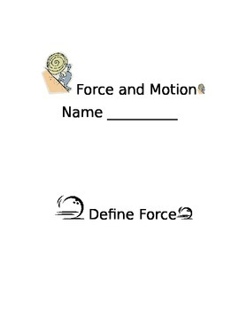 Force and Motion Mini Book