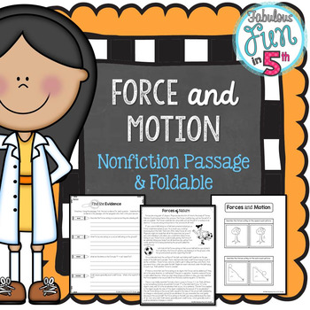 Force and Motion: Nonfiction Passage and Foldable
