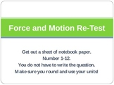 Force and Motion PPT Assessment