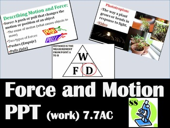 Force and Motion PPT (TEKS 7.7A & 7.7C)