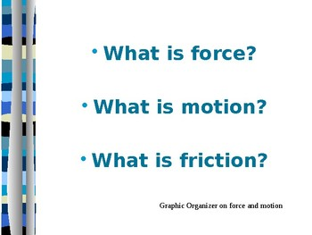 Force and Motion PPT Week 1