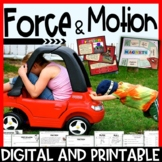 Force and Motion Pack – Interactive Notebook, Editable PowerPoint, Printables