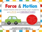 Force and Motion Pack (Worksheets, Centers, Experiments, A