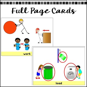 Force and Motion - Picture Vocabulary Cards