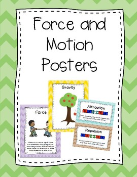 Force and Motion Posters