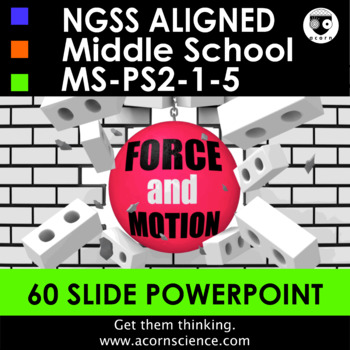 Force and Motion Powerpoint Middle School Science NGSS MS-PS2 Aligned