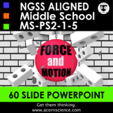 Middle School NGSS Force and Motion Powerpoint MS-PS2 Aligned