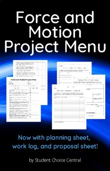 Force and Motion Project Menu