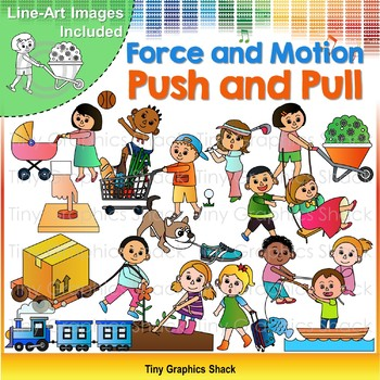 Force and Motion - Push and Pull Clip Art
