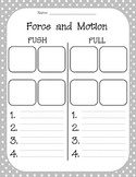 Force and Motion: Push and Pull Examples