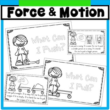 Juicy image with force and motion printable worksheets