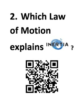 Force and Motion QR Code Relay