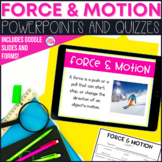 Force and Motion Quiz and PowerPoint Lessons
