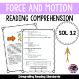 Force and Motion Reading Comprehension - SOL 3.2