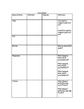 Force and Motion Reading and Comprehension Questions