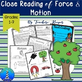 Force and Motion Reading and Writing