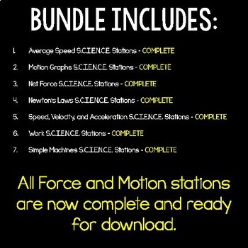 Force and Motion S.C.I.E.N.C.E. Stations Bundle