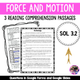 Force and Motion - SOL 3.2 Fiction Passages