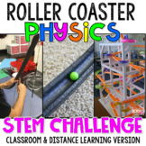 Roller Coaster Physics- Force and Motion STEM Project [Distance Learning]