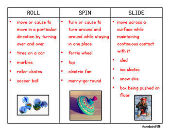 Force and Motion: Science Concept Sorts