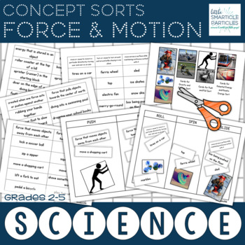 Force and Motion Science Concept Sorts