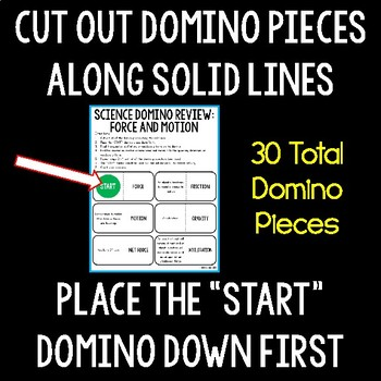 force and motion domino review by the science duo tpt