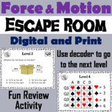 Force and Motion Activity: Escape Room - Science