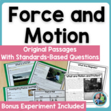 Force and Motion Science Reading Comprehension Passages &
