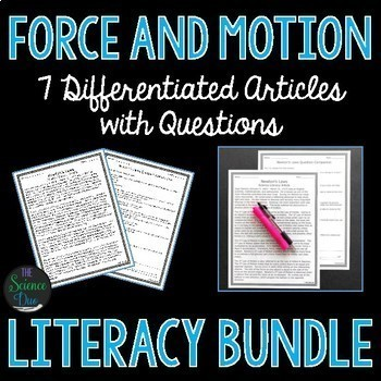 Force and Motion Science Literacy Bundle