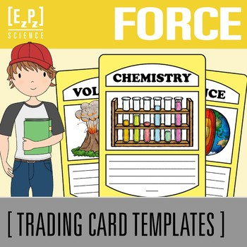 Force and Motion Science Trading Cards