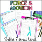Force and Motion Worksheets | Activities | Lesson Plans | Unit