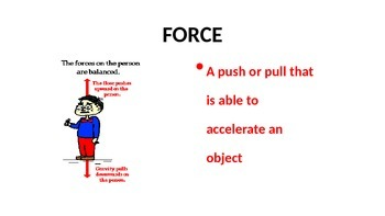 Force and Motion Scrolling Word Wall