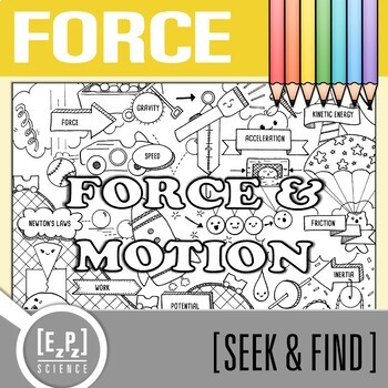 Force and Motion Seek & Find Doodle Page