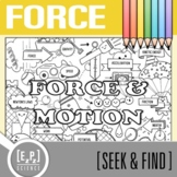 Force and Motion Seek and Find Science Doodle Page