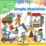 Force and Motion Simple Machines Clip Art
