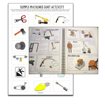 Force and Motion Simple Machines Interactive Notebook