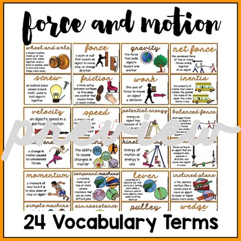 Force and Motion/Simple Machines Word Wall