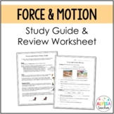Force and Motion Study Guide and Review Worksheet (SOL 4.2)